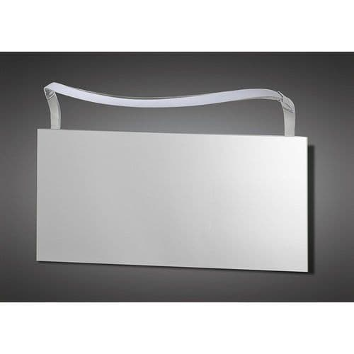 Mantra M5089 Sisley Wall Lamp LED Big Wave IP44 Silver Frosted Acrylic Polished Chrome